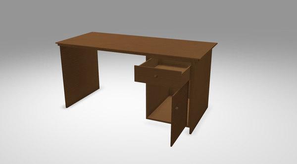 3D desk 02 model
