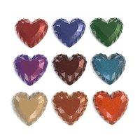 set heart shaped gemstone 3D