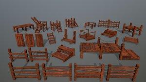 rope wood 3D