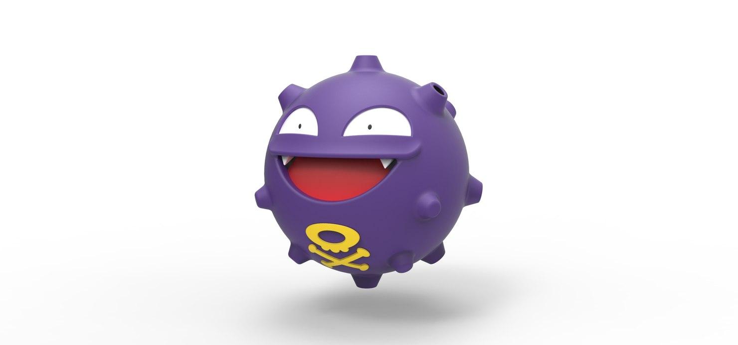 3D pokemon koffing