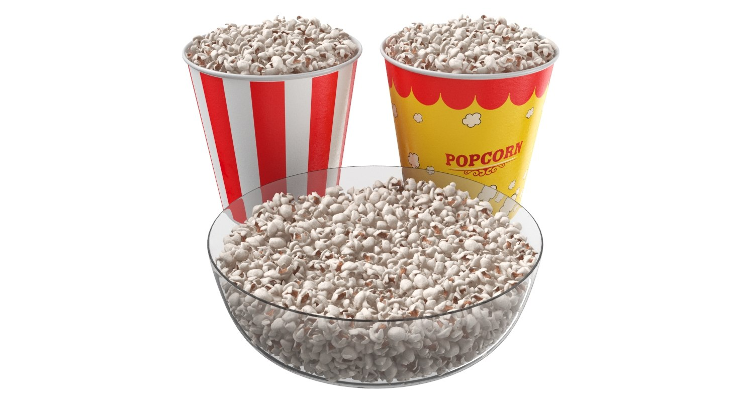 Popcorn Cups And Bowl