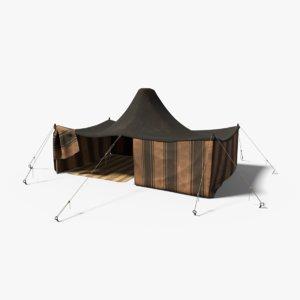 3D model berber tent