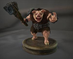 character boar 3D model