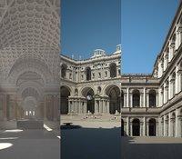 ancient buildings model