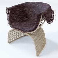 3D crinoline chair armrests polyethylene model