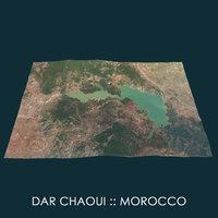 3D dar chaoui morocco model