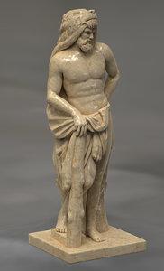 3D hercules greek statue