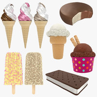 3D ice cream popsicle model