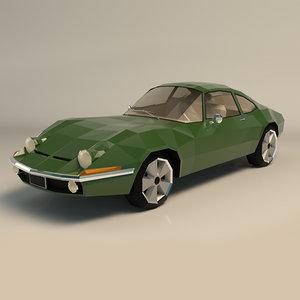 muscle car 3D model