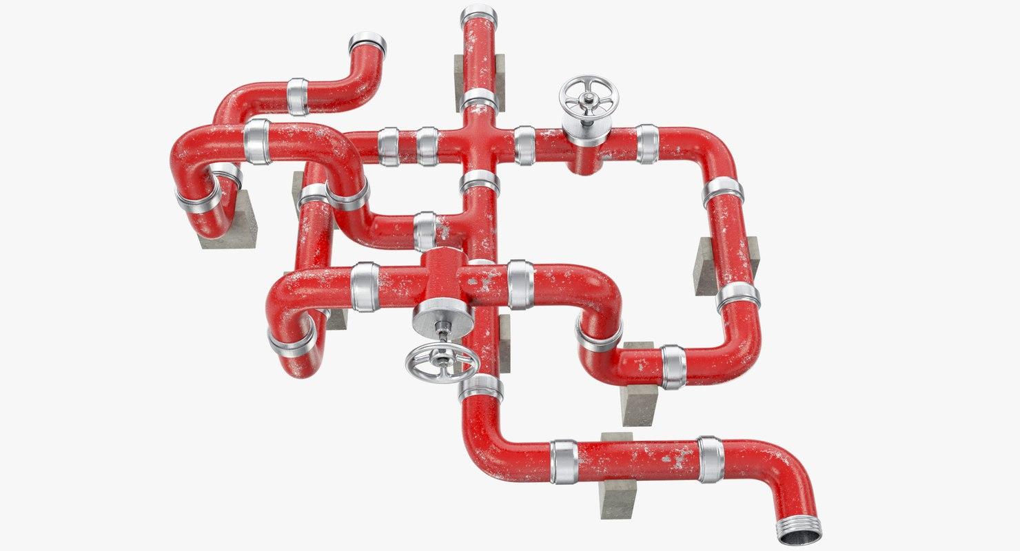 3D pipe pipeline industrial