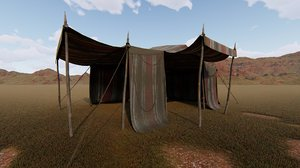 3D old tent