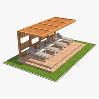 3D model pergola 1