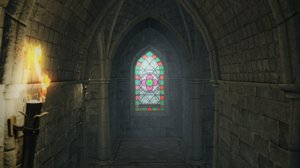 3D gothic chapel pbr materials model