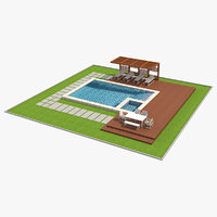 swimming pool 1 3D