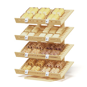 3D market shelf bakery