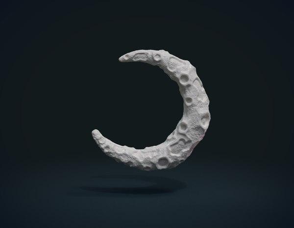 3D crescent model