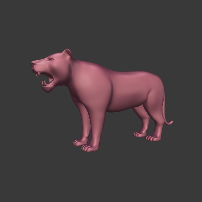 mammal animal tiger 3D model