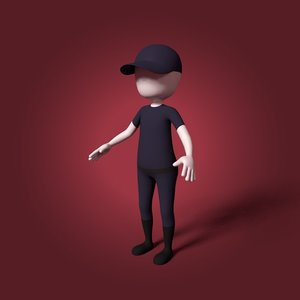 3D cartoon security guard
