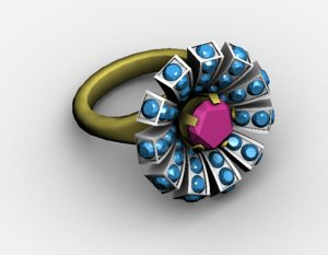 3D ring jewelry model