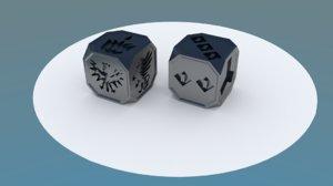 3D dices bones action faction