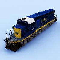 csx emd sd 40 3D model