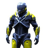 3D cyborg model