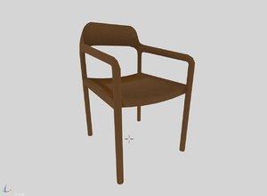 3D model chair jade