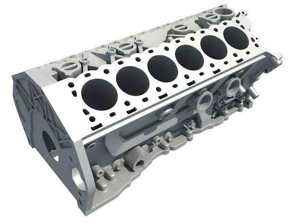 3D v12 engine block model