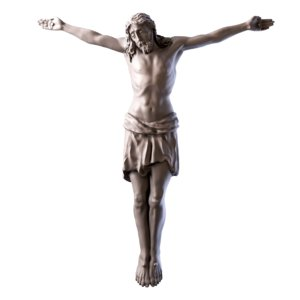 jesus cross 3D model