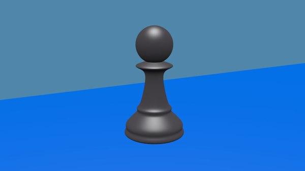 chess piece pawn model
