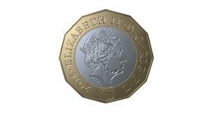 1 coin 3D