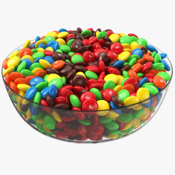 3D m ms candy bowl model