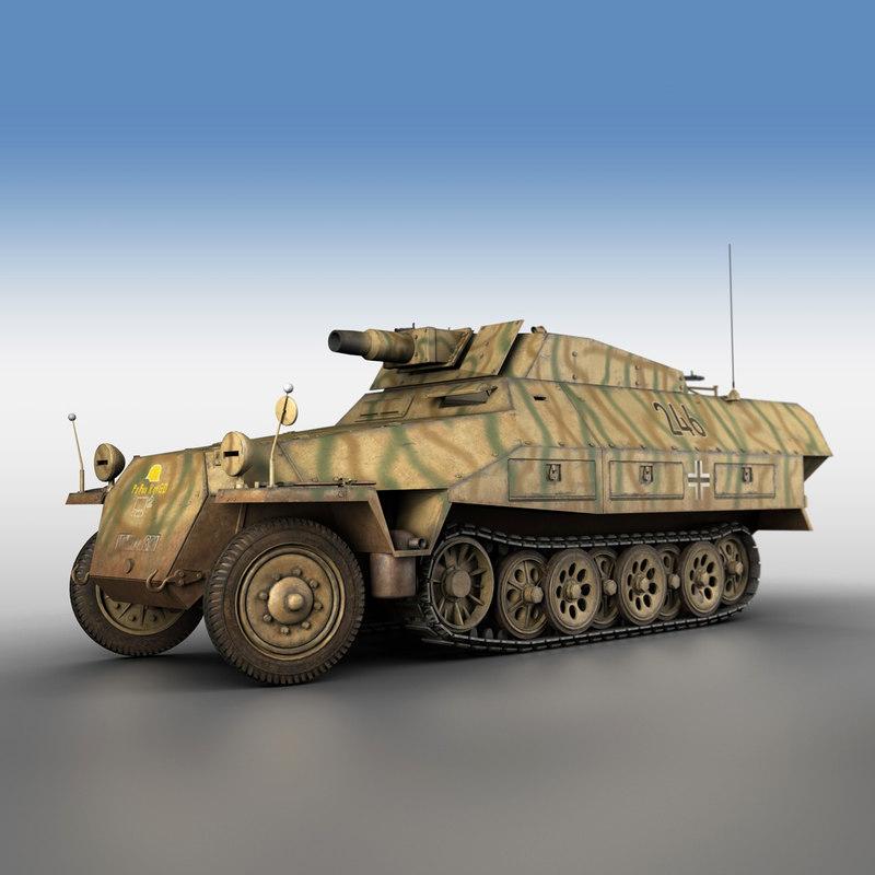 3D sd kfz 251 9