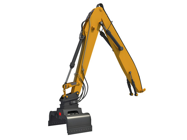 3D backhoe loader attachment model