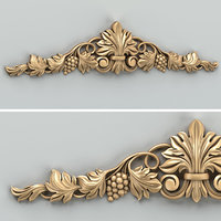 carved horizontal decor 3D model