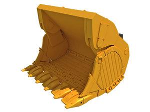 3D excavator bucket