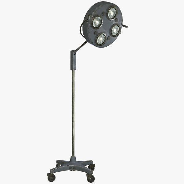 3D floor operating lamp