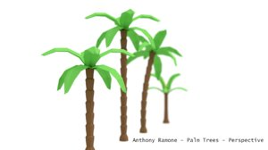 3D pack palm trees