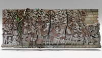 wall carving 1 3D