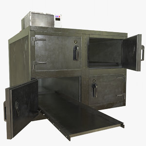 3D morgue refrigerator model