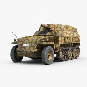 ww2 german sdkfz 250 3D model
