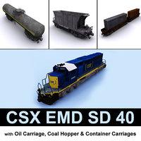 3D csx emd sd 40