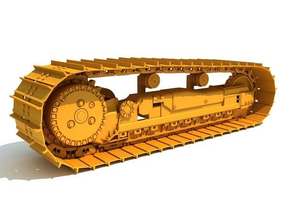 3D excavator track