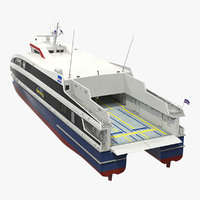 damen fast ropax ferry 3D model