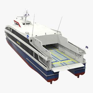 damen fast ropax ferry 3D model