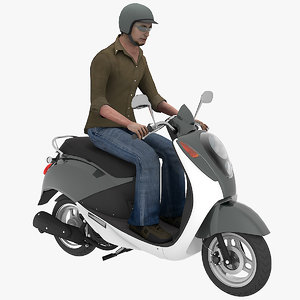 3D scooter man 02