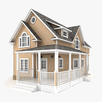two-story cottage 62 3D