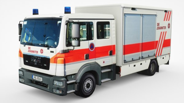 3D man tgs ambulance model