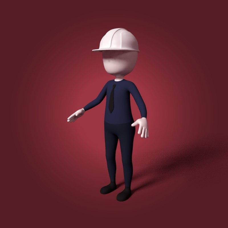 cartoon architect 3D