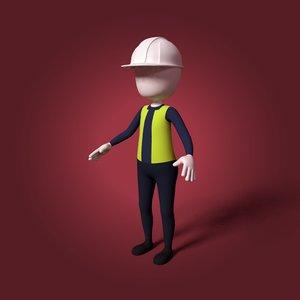 cartoon civil engineer model